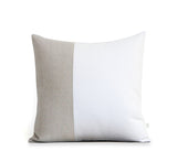 Two Tone Colorblock Pillow - Natural and Cream