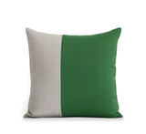 Two Tone Colorblock Pillow - Natural and Meadow