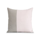 Two Tone Colorblock Pillow - Natural and Pale Pink