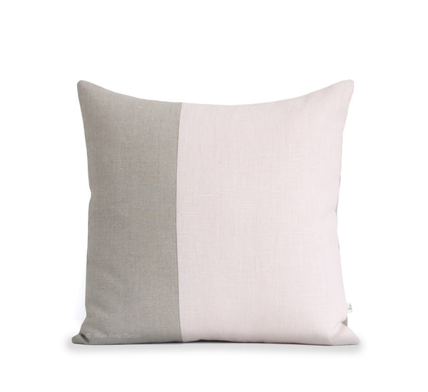 pillows light loki leather down pink pale blush alternative pillow insert with