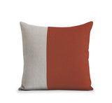 Two Tone Colorblock Pillow - Natural and Sienna