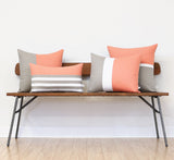 Cantaloupe Horizon Line Pillow