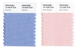 Serenity Colorblock Pillows - 2016 Pantone Color of the Year