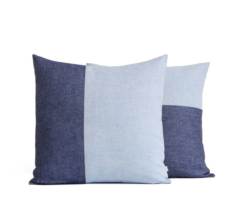 Limited Edition: Two Tone Chambray Pillow Cover