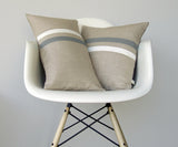 Striped Pillow - Grey/Cream/Natural