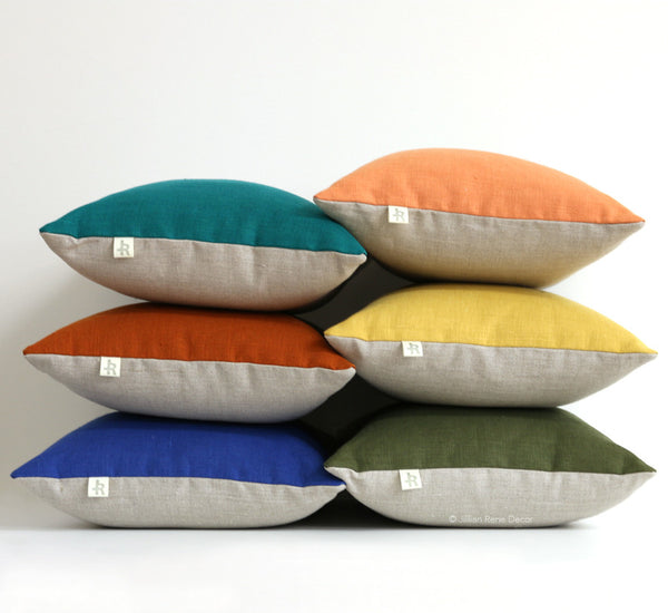 Colorblock Pillows - NEW Autumn Colors