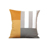 Graphic Grid Pillow - Marigold, Squash, Stone, Cream, Natural
