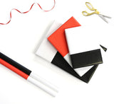 Colorblock Wrapping Paper - Red and White