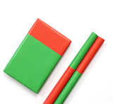 Colorblock Wrapping Paper - Red and Green