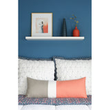 Extra Long Lumbar Colorblock Pillow (14x35) Cantaloupe