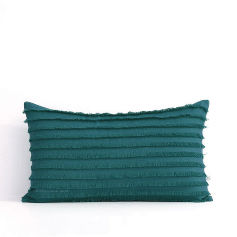 Biscay Layered Fringe Pillow