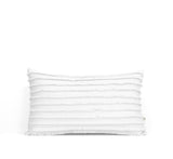Cream Layered Fringe Pillow