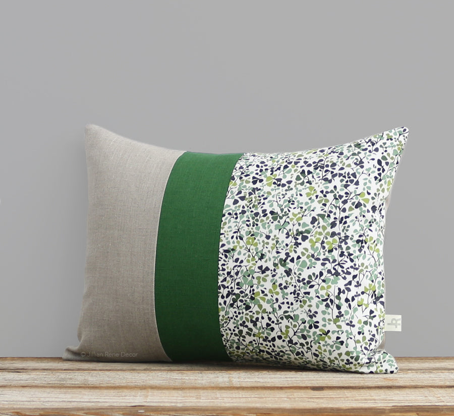 Limited Edition: Sandalwood Leaves Liberty Print Pillow Cover - Ninataylor Meadow