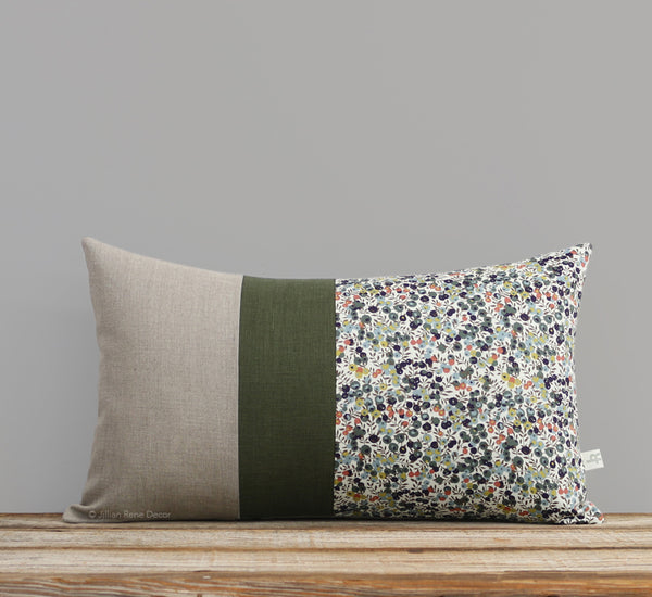 Limited Edition: Floral Liberty Print Pillow Cover - Wiltshire Green