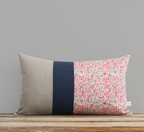 Limited Edition: Floral Liberty Print Pillow Cover - Wiltshire Pink