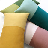 Monochromatic Colorblock Pillow - Teal