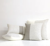Minimal Striped Linen Pillow