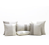 Minimal Striped Linen Lumbar Pillow