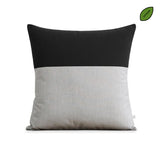 Outdoor Colorblock Pillow - Natural Two Tone