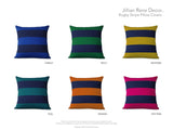 Rugby Stripe Pillow - Mint and Navy