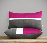 Silk Horizon Line Pillow - Pink Splendor