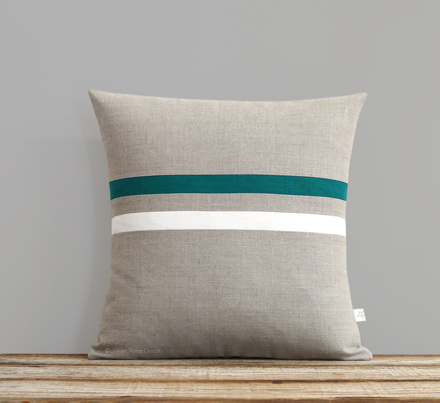 Striped Pillow Cover - Biscay, Cream and Natural
