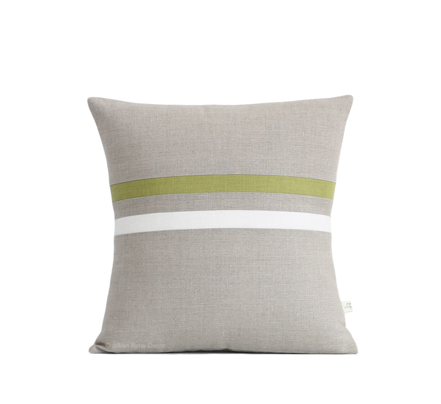 Striped Pillow - Linden, Cream and Natural
