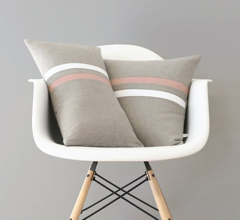 Blush Striped Pillow