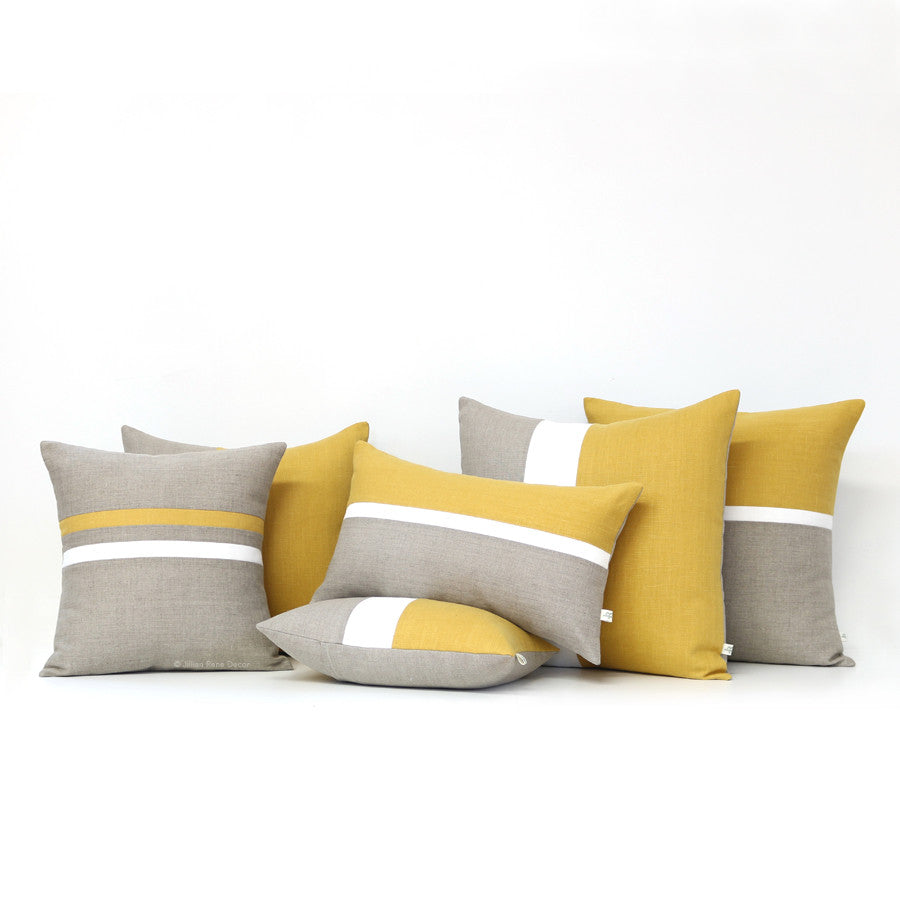 Yellow Pillow Set of 6 - Squash