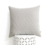 Cross Stitched Linen Pillow - Cream and Natural