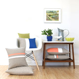 Cantaloupe Striped Pillow