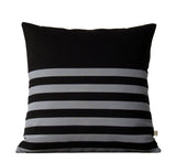 Multi Stripe Pillow - Black and Grey