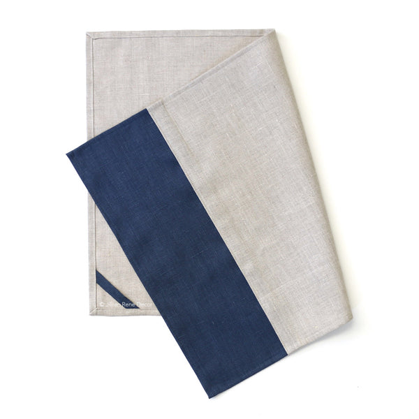 Navy Colorblock Tea Towel