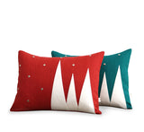 Winter Wonderland Pillow - Red and Cream