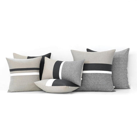 Black Striped Pillow Set of 6 - Chambray