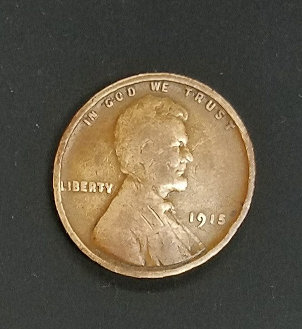 1915, 1915-P, Lincoln, Wheat Cent, Penny, Key Date, Copper, Rare, Collect, Vintage