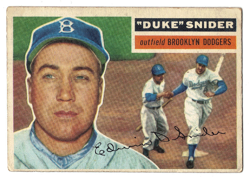 Duke Snider, Brooklyn, Dodgers, HOF, Home Runs, MVP, Baseball, Card, Rare