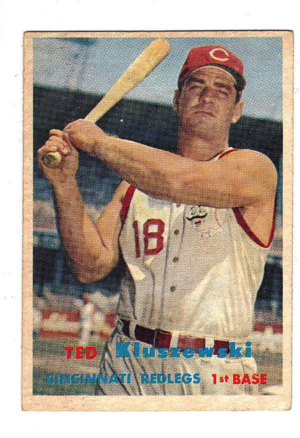 Ted Kluszewski, Cincinnati, RedLegs, HOF, Home Runs, MVP, Baseball, Card, Rare