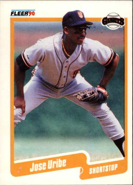 Jose Uribe, Giants, San Francisco, Rare, Baseball, Fleer