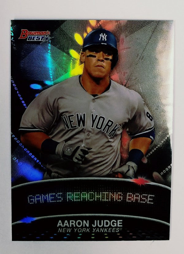 Aaron Judge, Yankees, Rookie, Home Runs, Bombers, Bronx, New York, RC, Baseball, Bowman, Best, Stat Line, Rare
