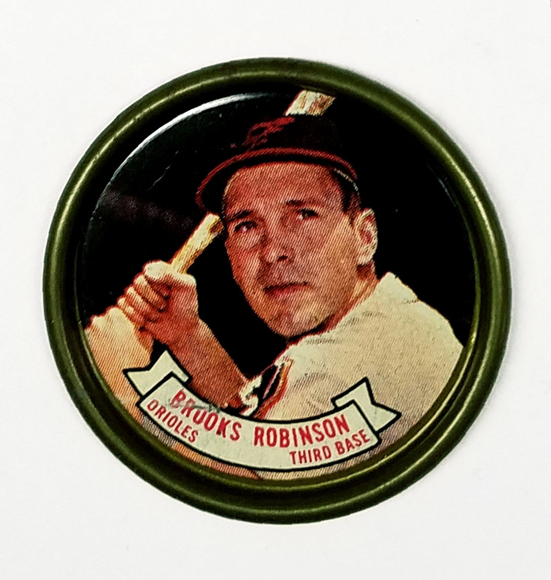 Brooks Robinson, Baltimore, Orioles, 1964, Topps, Baseball, Coin, Rare, HOF, 3rd Base, Gold Glove, Fielding