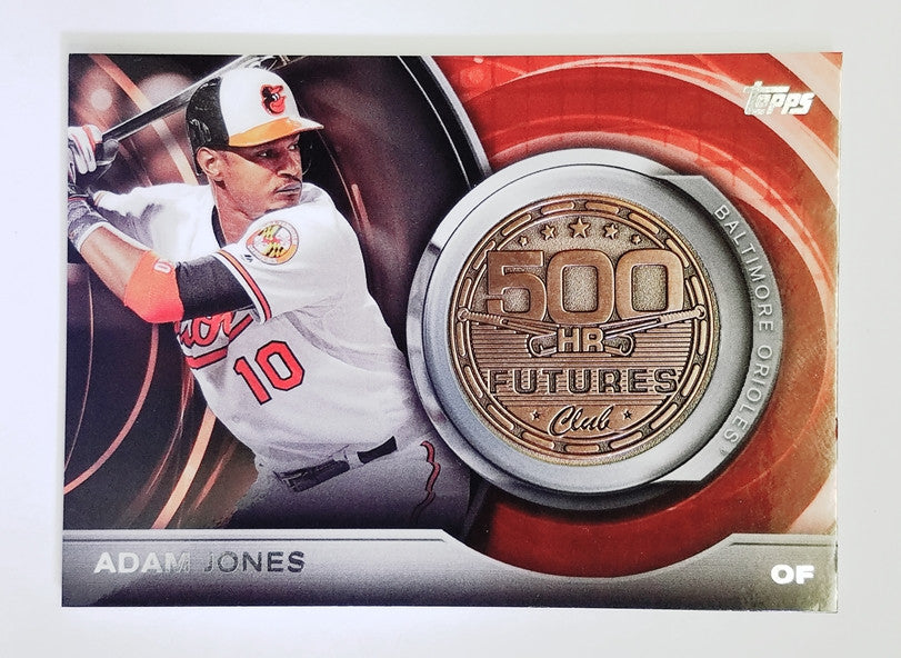 Adam Jones, Baltimore, Orioles, 500 HR Futures, Rare Insert, Medallion, Team USA, WBC