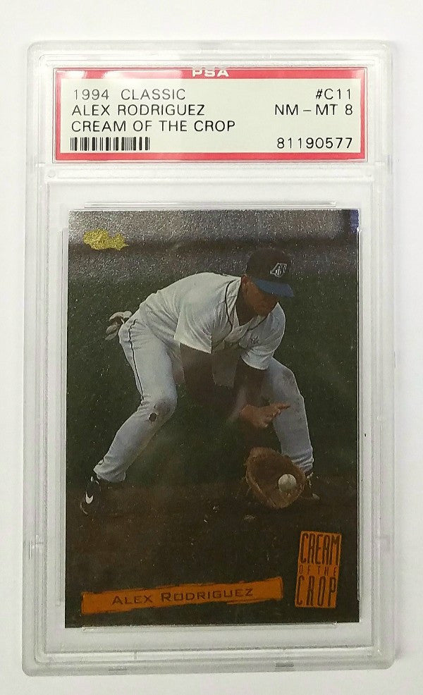 Alex Rodriguez, A-Rod, Yankees, Mariners, Rookie Card, Graded, PSA, Mint, Classic, Cream of the Crop, 1994