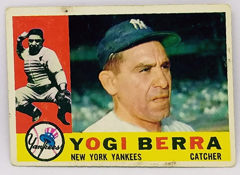 Yogi Berra, Lawrence, Catcher, New York, Yankees, HOF, Bombers, Bronx, New York, RC, Baseball, Card, Rare