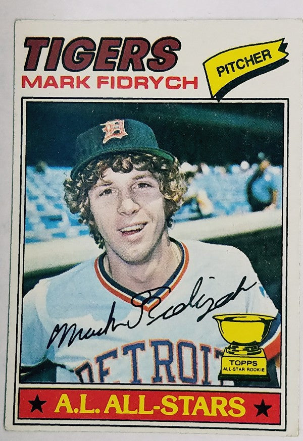 Fidrych, Tigers, Rookie Card, ROY, The Bird, Detroit, Pitcher