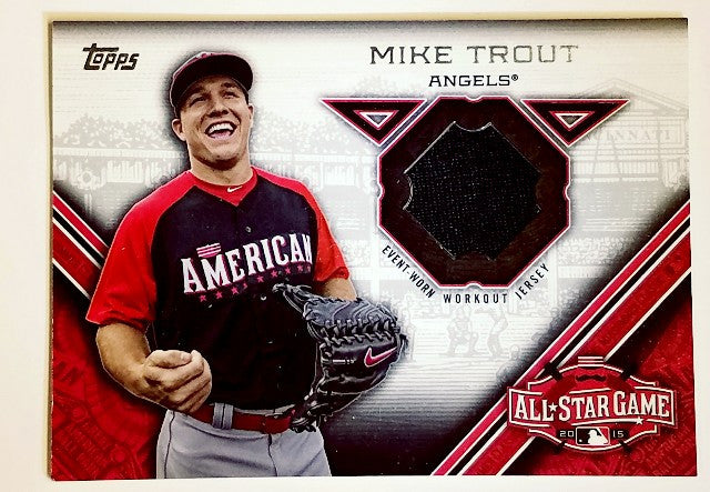 Trout, game used, GU, Jersey, angels, all-star game, mvp, topps