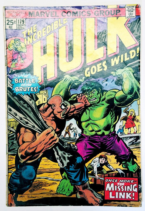 Hulk, Marvel, Bruce Banner, Comic Book, Brickfords, Talbot, Russian Spy, Wolverine, Romita, Trimpe, Thomas