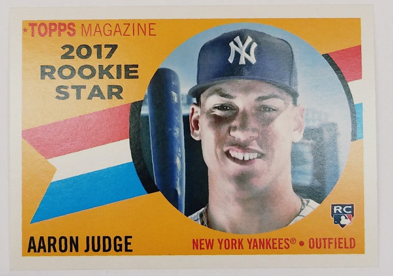 Aaron Judge, Yankees, Rookie, Home Runs, Bombers, Bronx, New York, RC, Baseball, Topps, Archives, 1960, Magazine, Heritage