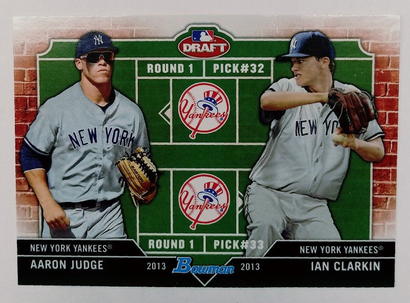 Aaron Judge, Yankees, Rookie, Home Runs, Bombers, Bronx, New York, RC, Baseball, Bowman, Draft, Dual, Clarkin