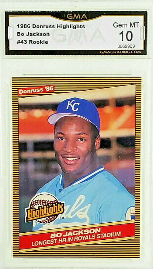 Details About Graded 10 Bo Jackson Rookie 1986 Donruss Highlights 43 Royals Gem Mint Rc